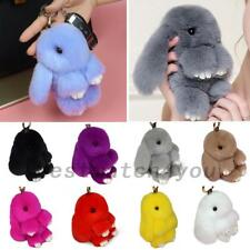 Bunny Faux Rabbit Fur Keychain Handbag Car Phone Pendant Keyring Kids Toys