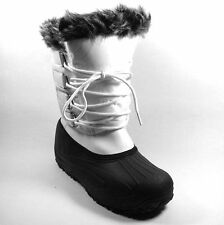 Patternless Wedge Snow, Winter Boots for Women