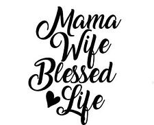 Mama,wife,blessed life with monogram initials for yeti cup vinyl decal