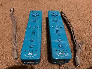 (2) Blue Nintendo Wii MotionPlus Inside Remote Controller's. OEM. L@@k