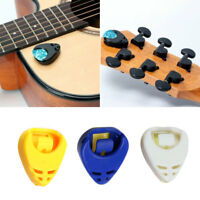 Guitar Pick Plectrum Plec Holder Self-adhesive Portable Pickholder Pick Clip w/
