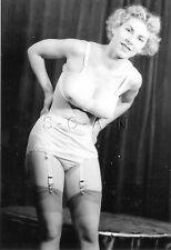 1940s-60s (4 x 6) Repro Risque Pinup RP- Bullet Bra- Garter Straps- Panties