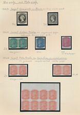 SOUTH AUSTRALIA STAMPS 1860-1868 RARE QV PAGE: PLATE PROOFS & COLOUR TRIALS