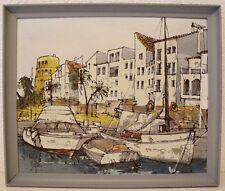 Bernard dufour, buques en el puerto de Niza-francia France -