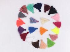 100pcs Color Mixing Cotton Thread Tassel Charm Pendant 3cm/1.2 Inches