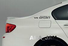 Powered by V6 SPORT Racing Vinyl Decal speed car emblem logo sticker BLACK