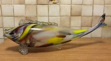 Murano Vintage grand poisson c 1970 L 67 cm H22cm 4kg800 Poissonnerie Verre fish