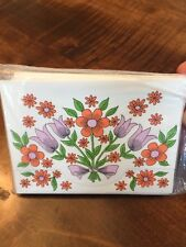 Eaton's Cards VINTAGE 10 Decorated Fold And Seal Invitations Floral Flowers NEW