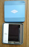 Mens FOSSIL Wilder Bifold Brown Wallet with Flip ID Grained Soft Leather BNIB