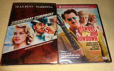 SHANGHAI SURPRISE & SWEET AND LOWDOWN-2 movies-SEAN PENN, MADONNA, UMA THURMAN