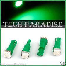 6x Ampoule T5 W1.2W W2X4.6D ( pour B8.5D ) LED SMD Vert Green Neo Wedge