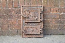 28.5 x 41.3 cm Old Cast Iron Fire/pain Four porte/PORTES/cheminée/Argile/Range/pizza