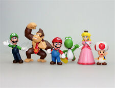 6PCS Super Mario Bros Luigi Figurines Figure Model Action Toys Gift Cartoon PVC