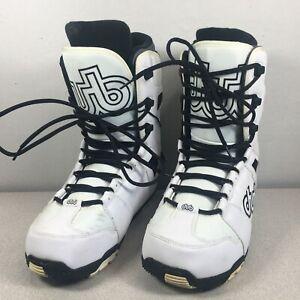 Dub Brand Logo Snowboard Boots White Mens Sz 13 Mondo 31