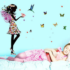 Fairy Butterfly Wall Sticker Art Decal Mural Girls Bedroom Nursery Decor DIY