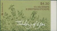 Australia booklet 1990 SG1231 43c Thinking Of You MNH