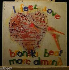 MAXIS 45T VINYL- BRONSKI BEAT / MARC ALMOND - I FEEL LOVE