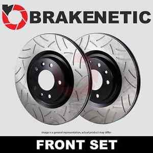 [FRONT SET] BRAKENETIC PREMIUM GT SLOTTED Brake Disc Rotors BNP37000.GT