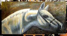 Künstlerische 1950-1999er Malereien mit Pferde-Tier-Motiv