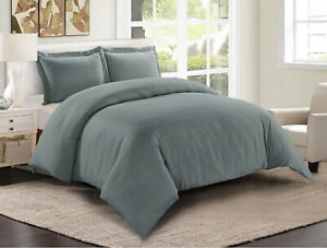 Egyptian Comfort 3 Piece Ultra Soft 1800 Count Duvet Cover Set for Comforter