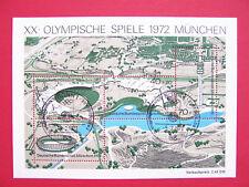 Block  7  ESST Bonn ,  BRD 1972,  Olymp. Spiele