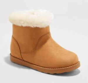 Toddler Girls' Alani Faux Fur Shearling Boots Chestnut - Cat & Jack - CHOOSE SZ