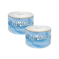 100 PC PlexDisc 16X 4.7 GB DVD-R White Inkjet Hub Printable Disc 632-210