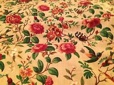 Vintage Archives Designs Brighton Floral Union Linen Curtain Fabric Material