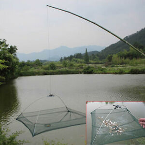 Fishing Net Folded Umbrella Cast Dip Net Eel Crab Lobster Crawfish Mesh Trap