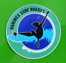 """HANIMEX SURFBOARDS"" RETRO Sticker Decal MIDGET FARRELLY 1960s LONGBOARD SURFING"
