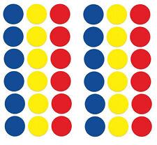 19mm colore misto ROTONDO AUTOADESIVO ETICHETTE ADESIVI CERCHIO COLORATO APPICCICOSO Dots