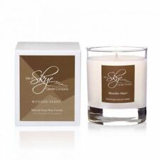 Isle of Skye Candle Co. Wooden Heart Natural Soy Scented Candle 30 Hour Burn NIB