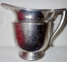 New listing Vintage Mid Century Epns Hammered Silver Plate Water Pitcher Mm Co.