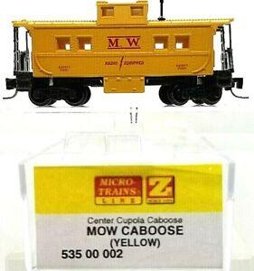 Z Micro-Trains MTL 535 00 002 MOW Caboose Yellow NIB