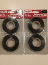 """2 Packs 4 Rolls Tool Bench Hardware PVC Electrical Tape NEW 0.71"""" x 50 Ft."""