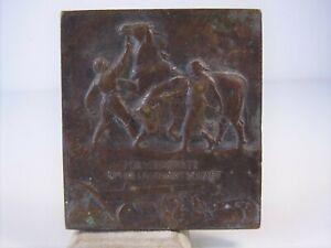 Antike Plakette Für Verdienste um die Landwirtschaft Sachsen vor 1945