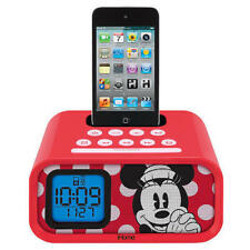 NEW~DISNEY~iHOME~MINNIE MOUSE~DUAL ALARM CLOCK SPEAKER SYSTEM~FOR iPOD~DM-H22.3