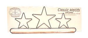 Classic Motifs Three Stars 16 Inch Fabric Holder With Dowel