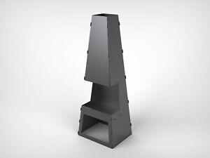 "Fire Pit V2 h-59"" Garden Fireplace Collapsible DXF files for plasma, laser. DIY"