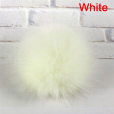 1x Faux Fox Fur PomPom with Press Fake Fur Hat Bubble Removable Button HLUS