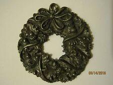 """Metal Wreath w/ Ribbon & Pine Cones 2.25"""" Christmas Ornament **NO BOX**"""