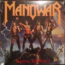 MANOWAR - Fighting The World LP Colored Vinyl Album SEALED Heavy Metal RECORD