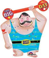 "New 30"" BALLOON new CIRCUS STRONG MAN Carnival Fair BIRTHDAY Free Shipping"