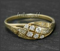 Brillant Damen Gold Ring, 0,40ct Lupenrein & River D Brillanten, 585 Gelbgold