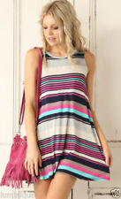 Stretch Casual Dresses Stripes for Women