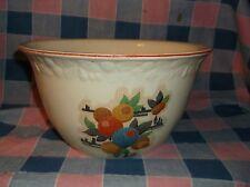 "ksm. Vintage Bowl Pantry Bak-in Ware by Crooksville  Fruit Pattern  8 1/2"" Acros"