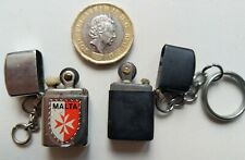 More details for vintage brass metal cigarette lighter rare old small tiny key ring fob