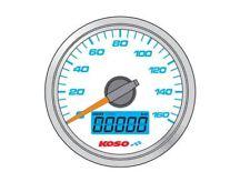 Compteur de vitesse KOSO D48 fond blanc GP Style universel moto et quad
