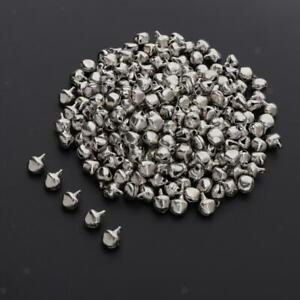 200x 8mm Small Xmas Jingle Bells Bead Charms for DIY Bracelets Jewelry Craft