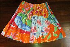 Lauren Ralph Lauren Skirt 10P Petite Bottoms Orange Pink Green Yellow Blue 10